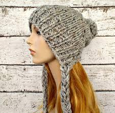 Knitted Chandelier Earrings Pattern Instant Download Knitting Pattern Slouchy Ear Flap Hat