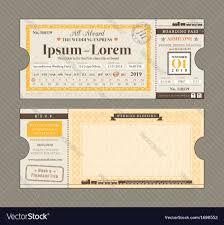 Boarding Pass Wedding Invitation Card Train Ticket Wedding Invitation Design Template Vector Image