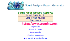 http access log analyzer sarg squid analysis report generator and bandwidth