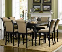 bar height dining room sets coaster cabrillo 9 piece counter height dining set dunk bright