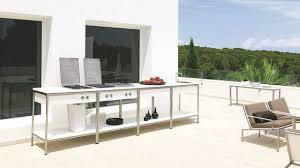 cuisine d été design cuisine d extérieur plancha et barbecue au gaz électrique