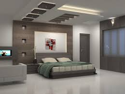 bedroom interior creative false ceiling lights in gypsum board