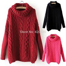 new fashion autumn sweater casual sleeve turtleneck