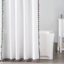 White Cotton Duck Shower Curtain Shower Curtains Birch Lane