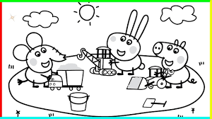 coloring pages peppa the pig madame gazelle with peppa pig coloring page 16 6 fototo me