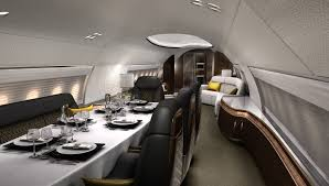 Private Jet Interiors Designq U0027s Elegante Airplane Interior Is A Mobile Residence For The