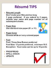 Resume Length