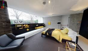 grey and yellow home decor bedroom grey and yellow bedroom modern with fitted storage black