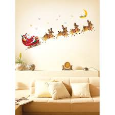 decoration cool colorful wall art ideas diy for teens bedroom fantastic and creative christmas wall decor with cool santa claus complete with reindeer and flying train