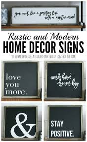 rustic and modern home decor signs giveaway Address Home Decor