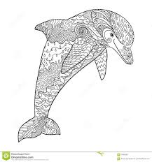 dolphin sketch in jump stock vector image 70995155
