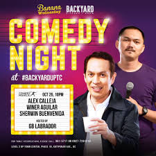 comedy night backyard up town center comedy manila