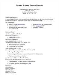 Experienced Nursing Resume Graduate Nurse Resume Template