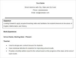 Resume For Teachers Sample by Resume Objectives U2013 46 Free Sample Example Format Download