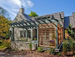 lattice privacy screen patio traditional with deck traditional