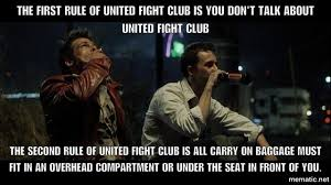 Fight Club Memes - united airlines fight club meme shows how airlines view coach
