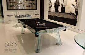 Pool Table Disassembly by Glass Pool Table Glass Pool Tables Crystal Pool Tables