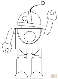 robot says hi coloring page free printable coloring pages