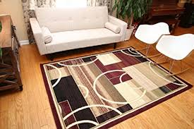 Modern Square Rug Generations Brand New Contemporary Reds Burgundy