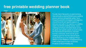 free wedding planner book planners