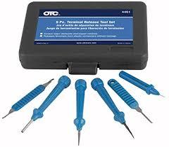 amazon com otc 4461 6 piece terminal release tool set with case