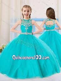 aqua quinceanera dresses 2016 princess scoop aqua blue mini quinceanera dress with beading