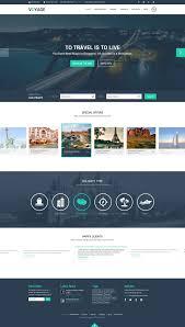 free travel website template psd graphic design pinterest