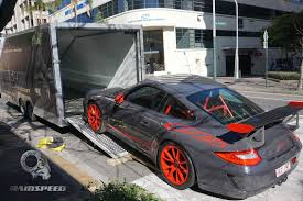 porsche gt3 grey porsche 997 gt3 rs enclosed car transport from queensland to sydney