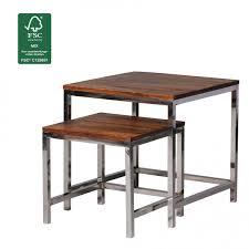 Wohnzimmer Tisch Finebuy 2er Set Satztisch Massiv Holz Sheesham Wohnzimmer Tisch