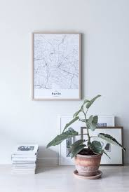 Scandinavian Home by Berlin Map Poster By Mujumaps Styled Perfectly In A Scandinavian