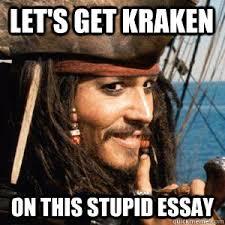 Essay Memes - kraken essay memes quickmeme