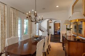 slip covered dining chairs dining room transitional with custom