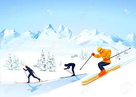 cross country skiing royalty free cliparts vectors and stock