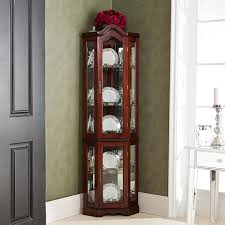 Specialty Lighting Curio Cabinet Lighted Corner Curio Cabinet With Mahogany Finish 6221877 Hsn