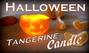 Tangerine Home Decor by Halloween Tangerine Candle Life Hack Jack O U0027 Lantern Youtube