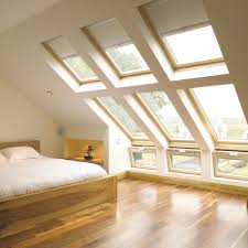 Dormer Window Treatments Dormer window with show curtains and