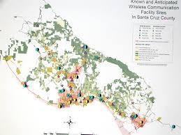 Verizon Coverage Map Colorado by Cell Sites Of Santa Cruz County