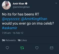it turns out amir is making much more from i u0027m a celeb than we