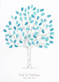 fingerprint tree wedding tree contemporary tree fingerprint