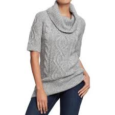 womens tunic sweaters navy womens cowl cable knit tunic sweaters polyvore