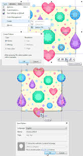 pattern corel x7 design and recolor a flat precious gems seamless pattern in coreldraw