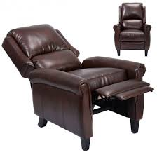 brown accent chair recliner with leg rest arm chairs recliners