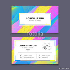business card design template creative background modern