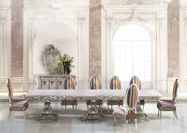 long rectangular table for classic dining room idfdesign