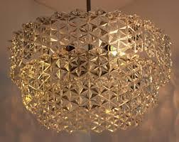 Crystal Glass Chandelier Vintage Chandelier Lighting Etsy