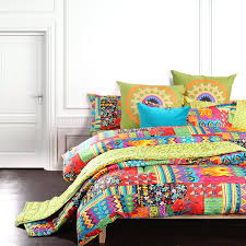 bohemian exotic bedding colorful modern duvet cover queen king