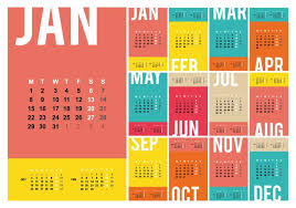 Calendar 2018 Ai Template Free Desktop Calendar 2018 Template Illustration Free