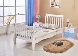 Solid Wood Sleigh Bed Wooden Sleigh Bed Single Home Beds Decoration