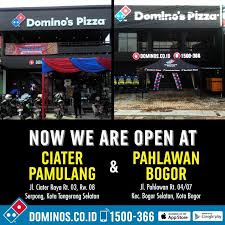 domino pizza tangerang selatan domino s pizza we are now open at ciater pamulang facebook