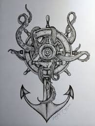 octopus u0026 anchor idea would be incorporated with nautical compass